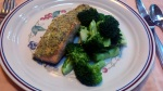 Herb Mustard Salmon and Broccoli