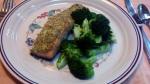 Herb Mustard Salmon and Broccoli