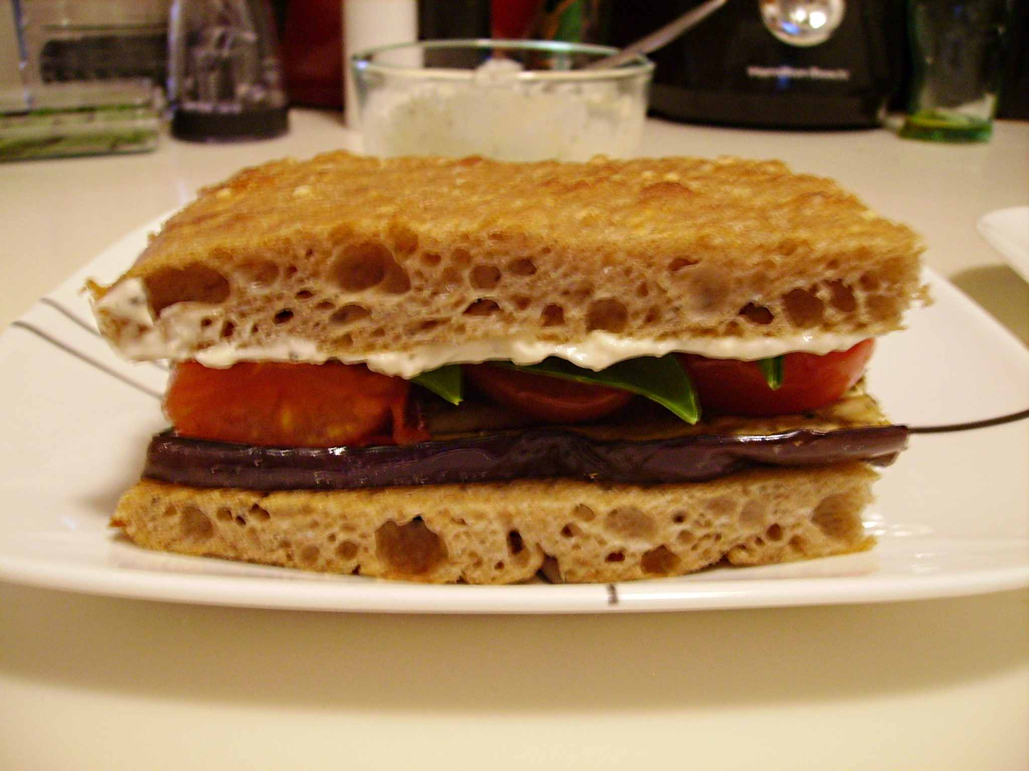 Grilled Eggplant and Tomato Sandwiches | Smells Like Brownies