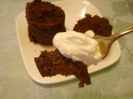 Chocolate Cake and Whipped Cream