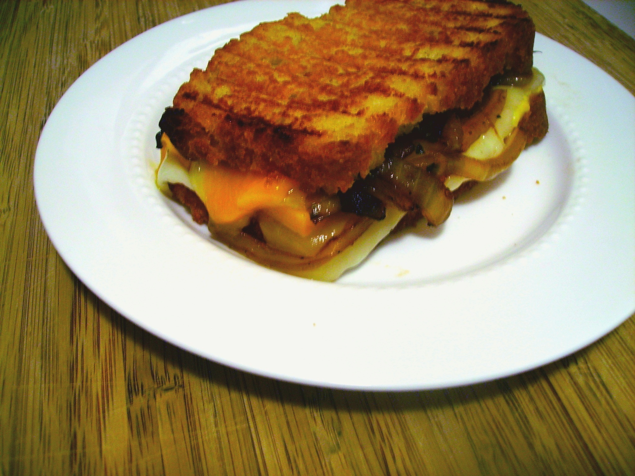 ... for grilled cheese using beer bread. Holy moly, what could be better