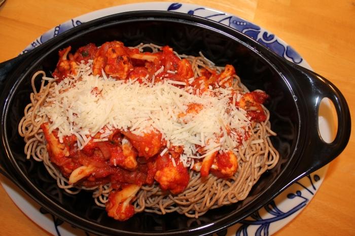 Spaghetti with Spicy Cauliflower Sauce