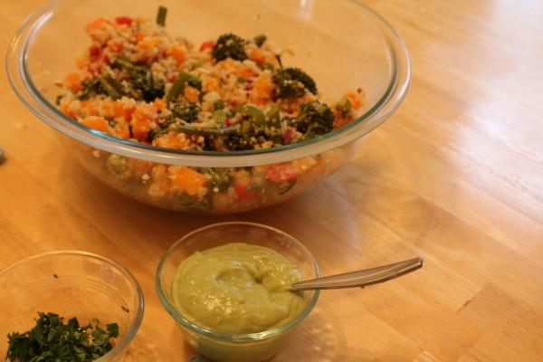 Quinoa Salad and Garnishes