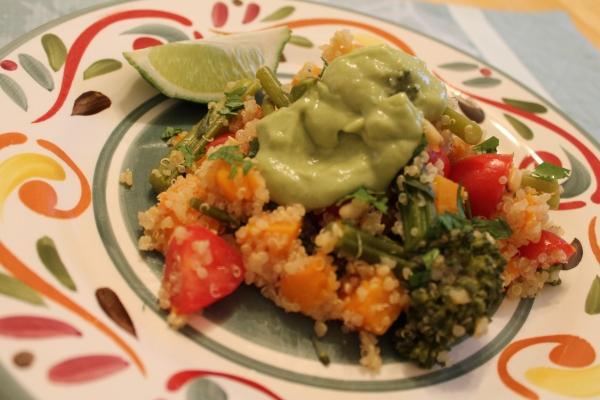 Quinoa with Butternut and Broccolini