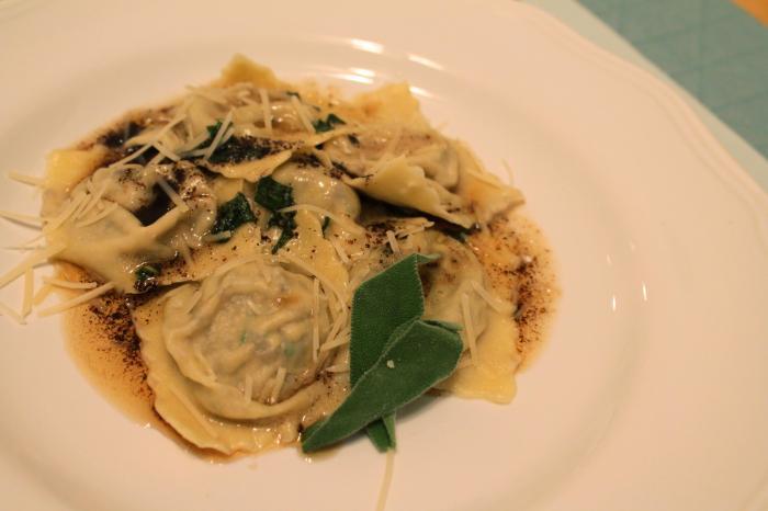 Mushroom Ravioli in Brown Butter Sage