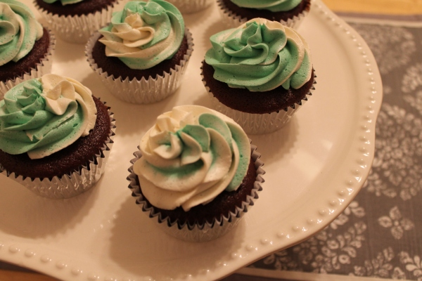 Baby Guinness Cupcakes