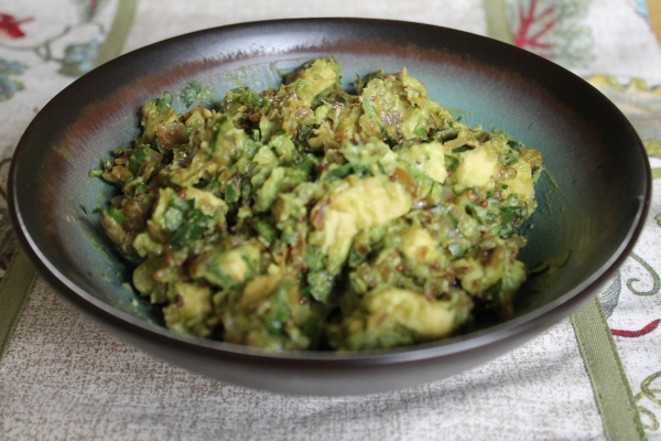 Curried Avocados with Mustard