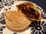Spicy Black Bean Pitas