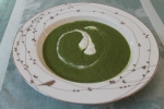Sweet Pea and Spinach Soup with Fresh Mint Cream