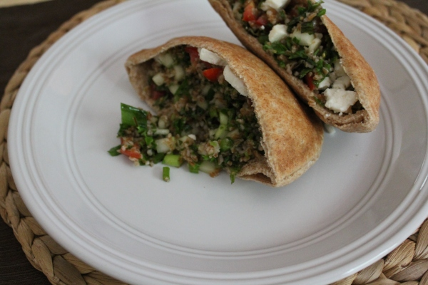Tabbouleh Pitas for Lunch