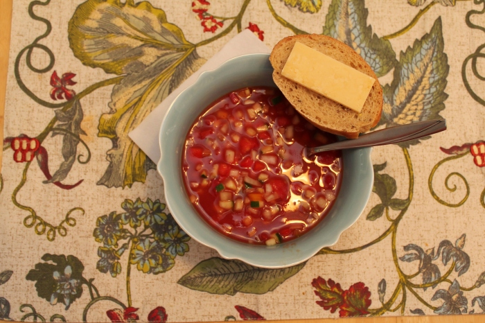 Summertime Tomato Soup and Cheese Bread