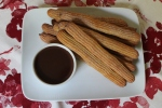 Baked Churros with Hot Chocolate