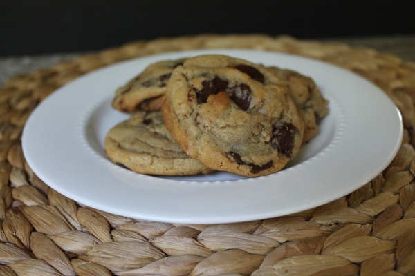 Bourbon Brown Butter Chocolate Chip Cookies