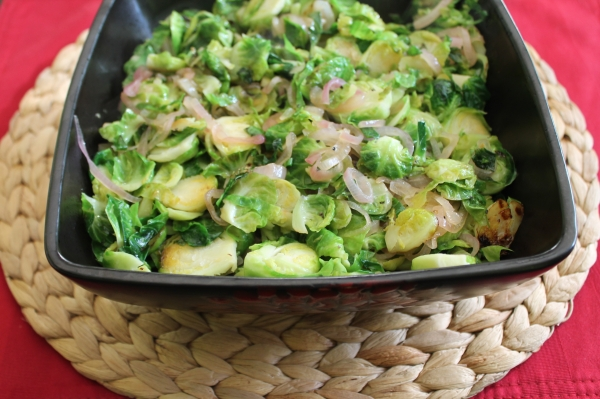 Brussels Sprouts with Caramelized Shallots