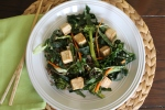 Citrus Ginger Kale and Tofu Salad