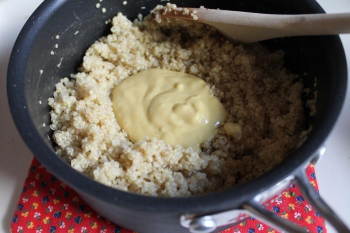 Quinoa and Mustard Sauce