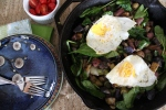 Breakfast Potato Skillet with Eggs and Spinach