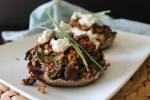 Farro-Stuffed Portabellas with Balsamic and Goat