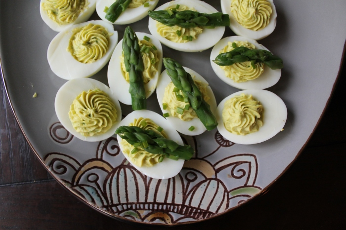 Asparagus Deviled Eggs