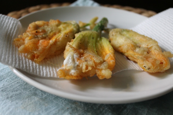 Stuffed Fried Squash Blossoms