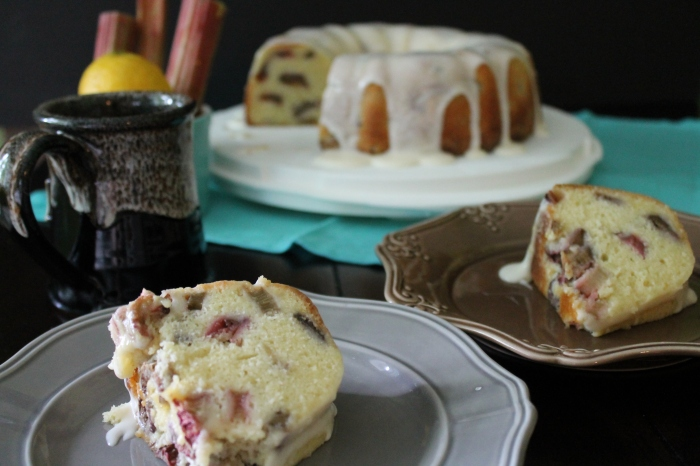 Lemon Rhubarb Bundt Cake