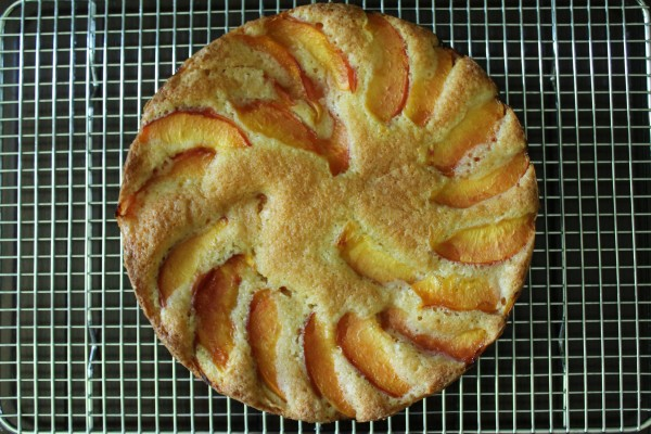 Golden Nectarine Cake