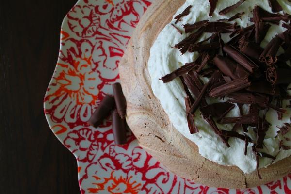 Rustic Chocolate Pavlova