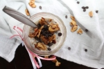 Overnight Oats with Coconut, Honey Almonds, and Chocolate