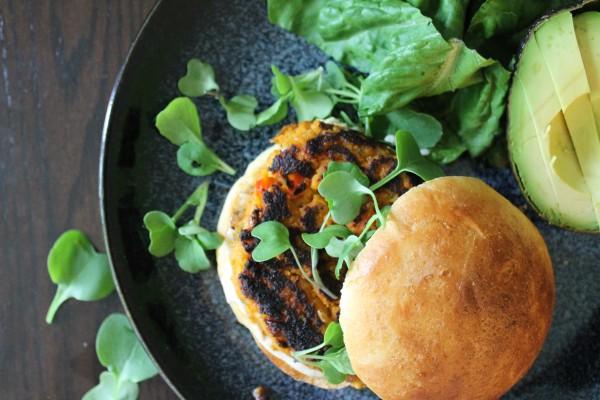 Chipotle Sweet Potato Burger