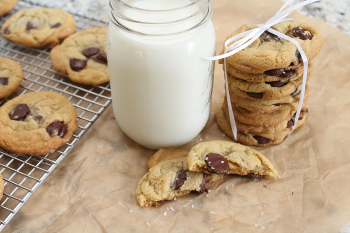 Olive Oil and Sea Salt Dark Chocolate Chip Cookies