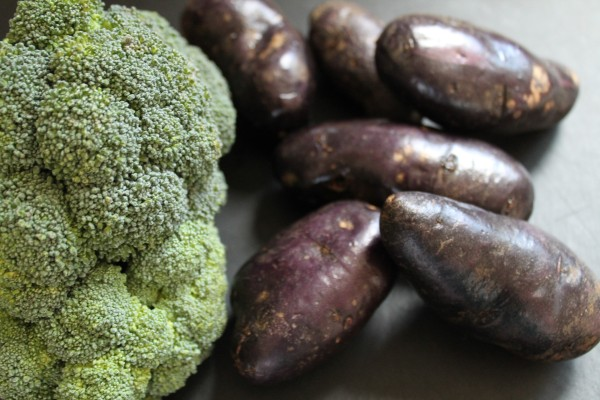 Broccoli Purple Potatoes