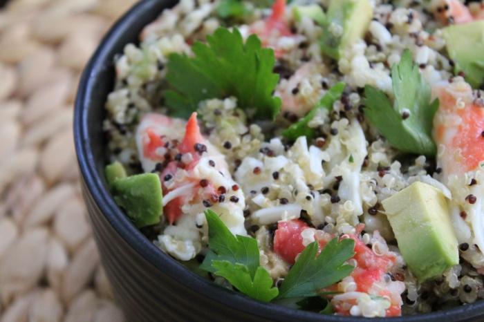 Crab Quinoa Salad with Lemon Butter