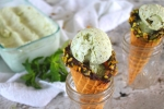 No-Churn Mint Pistachio Ice Cream