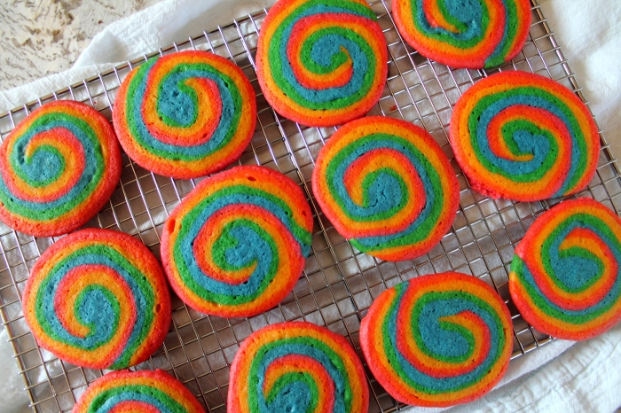 Rainbow Swirl Sugar Cookies