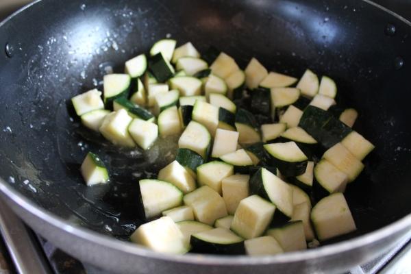 Searing Zucchini