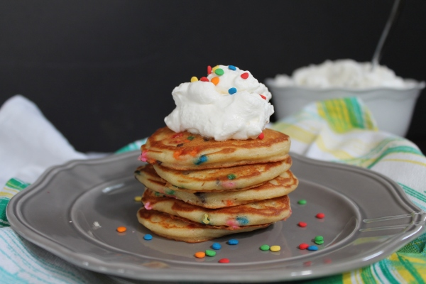 Confetti Greek Yogurt Pancakes