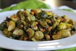 Maple Roasted Brussels Sprouts with Hazelnuts