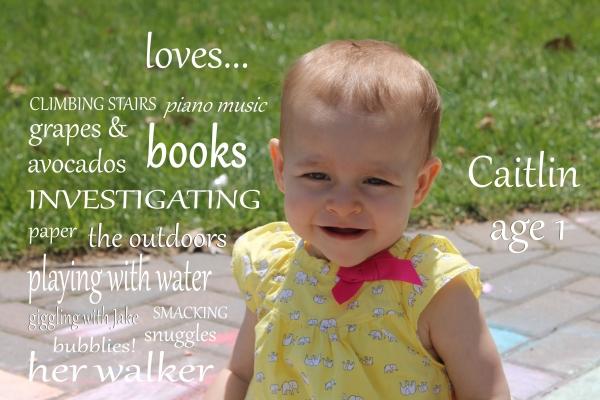 Caitlin Age 1