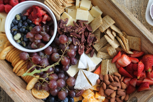 Fruit, Cheese, Cracker, and Nut Tray