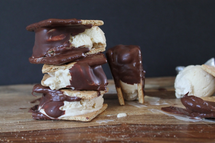 Dipped Ice Cream S'Mores