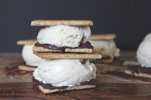Toasted Marshmallow Ice Cream S'Mores