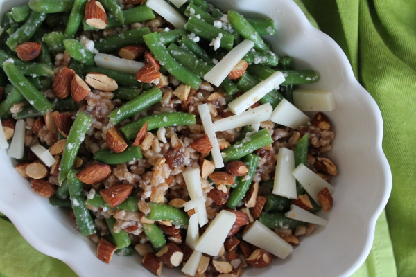 Green Bean and Farro Salad with Manchego
